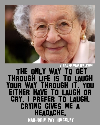 The only way to get through li... Marjorie Pay Hinckley